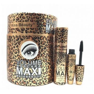 ریمل حجم دهنده و بلند کننده مژه کیس بیوتی Kiss beauty Maxi volume