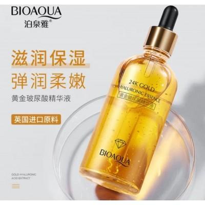 سرم هیالورونیک اسید ضد پیری و آبرسان طلا 24 بیوآکوا BIOAQUA 24k Gold Hyaluronic Essence anti aging
